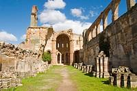 Church, ruins of Santa Maria de Moreruela Cistercian monastery (12th century). Zamora province, Castilla-León, Spain