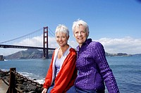 USA, California, San Francisco, two mature women, portrait