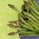 Close-up of asparagus in a colander