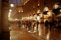 People strolling through galleria vittorio emanuele, Milan, Italy