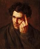 Ü Kunst - Gericault, Theodore (1791 - 1824), Gemälde ´Lord Byron´, Portrait Musee Fabre, Montpellier, Frankreich franz., romantik, 19. jahrhundert zei...