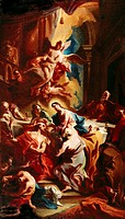 fine arts, Carlone, Carlo, 1686 - 1775, painting, ´last supper´, 1720, German Baroque Gallery, Augsburg, historic, historical, Europe, Italy, 18th cen...