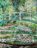 Kunst - Monet, Claude (1840 - 1926): ´Japanische Brücke´, Gemälde 1899, Öl auf Leinwand, 92,7 x 73,7 cm, Metropolitan Museum New York, französische Ma...