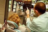 DENTAL CARE FOR ELDERLY PERSON<BR>Models.<BR>Panoramic dental  X-ray.