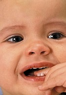PORTRAIT OF AN INFANT CRYING<BR>Model.<BR>Thirteen-month-old girl.