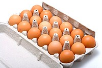 brown, eggs, hen egg, raw, carton, food