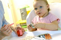 CHILD TAKING MEDICATION<BR>Models.