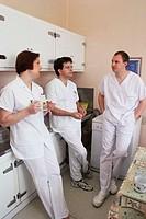 HOSPITAL TEAM<BR>Photo essay from hospital.<BR>Geriatrics unit at the Sébastopol hospital in Reims, France.
