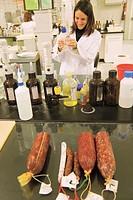 Laboratory of Campofrio factory. Burgos province, Castilla-León, Spain