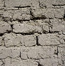 Close-up of a wall made up of mud and reed air-dried bricks