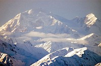 Mountains covered with snow, Mount McKinley, Alaska, USA