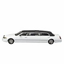 Close up of a model limousine