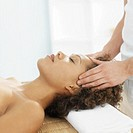Woman receiving a shiatsu massage