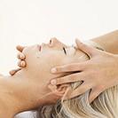 Woman receiving a shiatsu massage