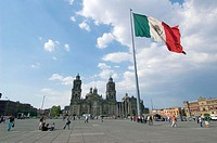 Zocalo. Historical Centre. Mexico City. Mexico