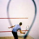 Man playing squash