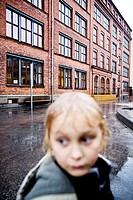 Adrian in the rain, Bording Friskoles school yard, Copenhagen, 2005