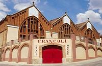 Cooperative cave of l´Espluga de Francolí, by Pere Domènech i Roure. Tarragona province. Spain.