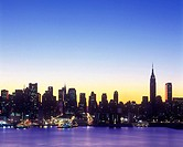 Mid-town skyline, Manhattan, New York, USA.