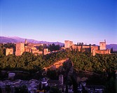 Alhambra castle, Granada, Andalucia, Spain.