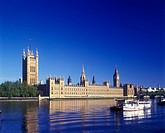 Houses of Parliament, River Thames, London, England, U.K.
