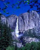 Scenic Upper &amp; Lower Yosemite waterfalls, Yosemite National Park, California, USA