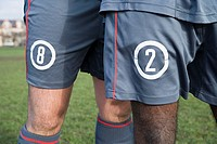 Footballers in shorts