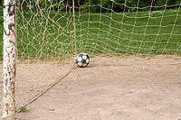 Football in goal