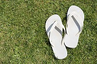 White flip flops