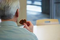 Man with a cookie