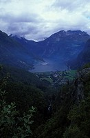 View to the fjord, Geirangerfjord, Norway