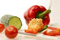 Tomatos, Cucumber and capsicum