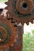 Front view of two junk gears.