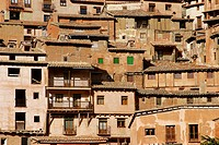 Houses. Albarracín. Teruel province. Spain