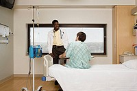 Doctor and patient in room