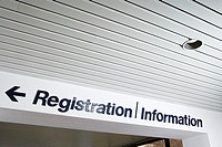 Registration and information sign
