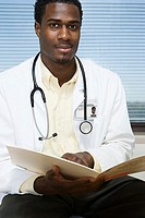 Doctor with file