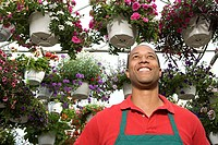 Shop assistant at a garden centre