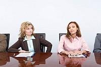 Envious businesswoman