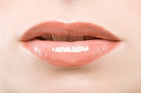Female lips with lipstick