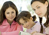 Three preteen girls