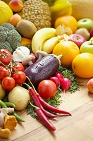 Variety of vegetables, and fruits