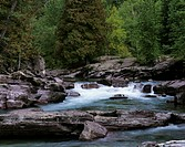 USA, Montana, Glacier National Park, McDonald River