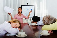 Business People Sleeping During a Meeting