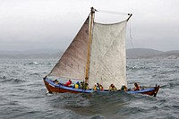 People sailing around southernmost tip of Norway