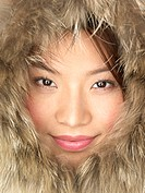 Smiling Woman in Fur