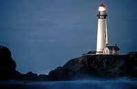 Pigeon Point Lighthouse at night, Santa Cruz, California