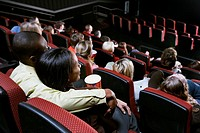 Couple Watching Movie in Theater