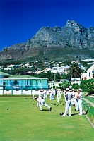 Lawn bowling at Camps Bay in Capetown South Africa