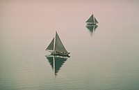 Sailing oyster boats, Chesapeake Bay
